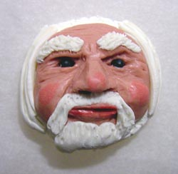 Sculpey Face with Beard