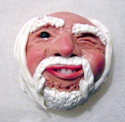Sculpey Face Winking with Beard